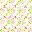 Colorful Easter holiday seamless pattern — Stock Vector