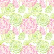 Stock Vector: Springtime Colorful Flower Seamless Pattern