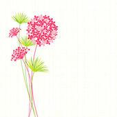 Springtime Hydrangea Flower Background — Stock Vector