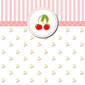 Colorful Cherry Gretting Card — Stock Vector