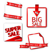 Set of Sale Sticker or Label — Stock Vector