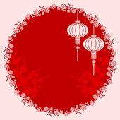 Oriental Chinese Lantern Illustration — Stock Vector