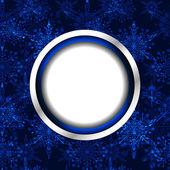 Christmas Snowflake Background — Stock Vector
