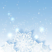 Sparkling Christmas Star Snowflake Background — Stock Vector