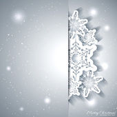 Christmas Snowflake Greeting Card — Stock Vector