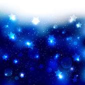 Sparkling Blue Star Celebration Background — Stock Vector