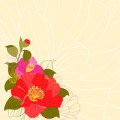 Karty z pozdrowieniami kolorowy kwiat wiosenny — Wektor stockowy