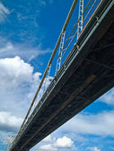 Bridge and clouds — Stock Photo