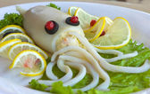Fish dish with lemon — Stock Photo
