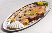 Dish with fish — Stock Photo