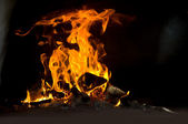 Fire in the furnace — Photo