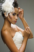 African-American bride — Stock Photo