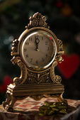 Christmas clock — Stockfoto