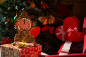 Boże narodzenie zegar — Zdjęcie stockowe