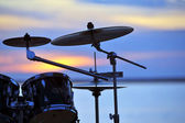 Drums at sunset — Stock Photo