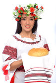 девушка в украинском костюме — Стоковое фото