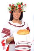 Chica en traje de ucrania — Foto de Stock