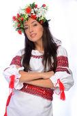 Dziewczyna w stroju ukraiński — Zdjęcie stockowe