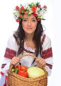 Ragazza in costume ucraino — Foto Stock