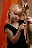 Little girl in the photo studio — Stock Photo