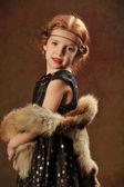 Elbiseli kız — Stok fotoğraf