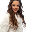 Girl in a white coat — Stockfoto #5821040