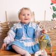 Baby in national Ukrainian costume — Stock Photo