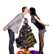 Royalty-Free Stock Photo: Men and women kisses