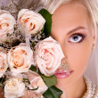 Portrait of beautiful blonde bride — Stock Photo #16344885