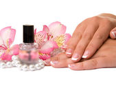 Nail care for women's hands — Stock Photo