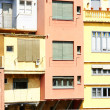 Stock Photo: Fronts building colourists of Girona