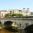 Stock Photo: Bridge of concrete in downtown of Girona