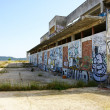 Building graffiteado and abandon in the field — Stock Photo