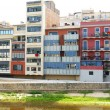 Stock Photo: Facades of buildings of Girona