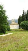 Bölüm porqueres, santa maria kilisesi, geri — Stok fotoğraf