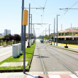Street with routes and streetcar — Stock Photo #12824803