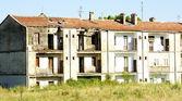 Housings degraded in the field — Stock Photo