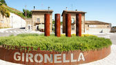 Roundabout in Gironella — Stock Photo