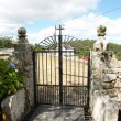Iron Gate of a Galician cemetery - Stock Photo