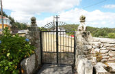Iron Gate of a Galician cemetery — Stock Photo
