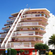 Singular building in Empuriabrava — Stock Photo