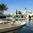 Channel in Empuriabrava — Stock Photo