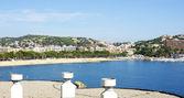 全景海滩的马略卡岛帕尔马费里乌德尔斯 — 图库照片