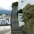 External staircase of a building in Cadaques — Stock Photo