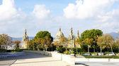 Panoramic of Montjuïc's National Palace of Barcelona — Stock Photo