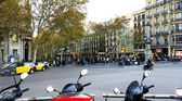 Panorama van de ramblas in barcelona — Stockfoto