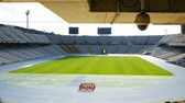 Interior of the lawn of Montjuïc's olympic stadium, Barcelona — Stock Photo