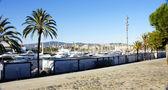 Panoramic view of harbor — Stock Photo