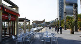 Terrace of a bar in the Olympian port — Foto de Stock