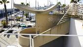 Escaleras en el puerto olímpico — Foto de Stock